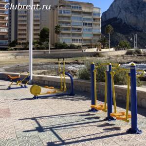 Тренажеры на набережной Кальпе