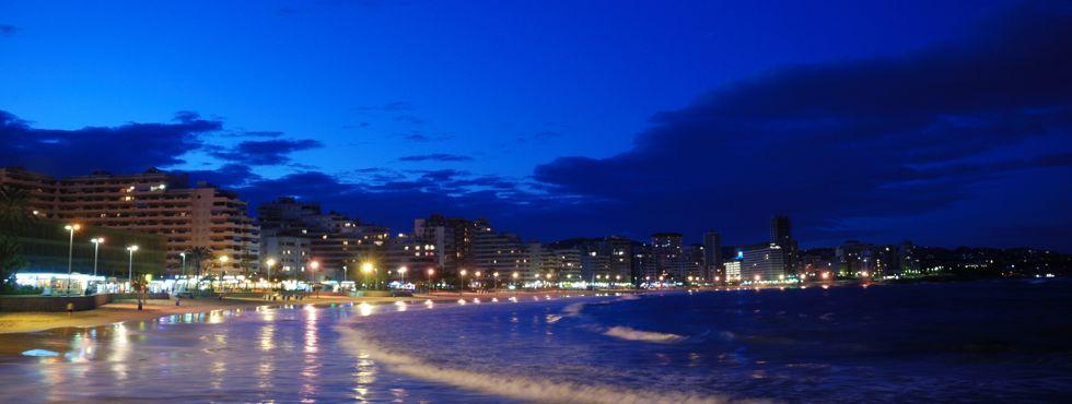 Коста Бланка, Кальпе, пляж La Fossa вечером, отзывы об отдыхе в Кальпе
